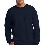 Ultra Cotton™ 100% Cotton Long Sleeve T Shirt with Pocket