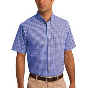 Short Sleeve Gingham Easy Care Shirt
