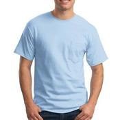 Tagless® 100% Cotton T Shirt with Pocket